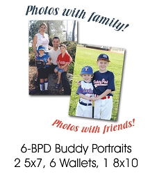 Buddy Group Portrait  (2 or more people 2 5x7s - 6 Wallets - 1 8x10)