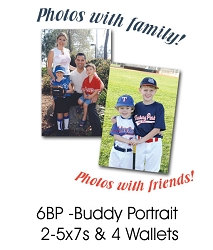 Buddy Group Portrait  (2 or more people 2-5x7s & 4 Wallets)