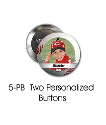 Two Personalized Buttons