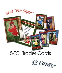 12 Pro Style Trader Cards